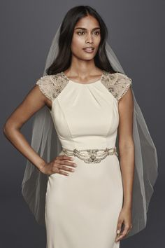 First look at the new Jenny Packham wedding dress collection for David's Bridal #wedding #dress #affordable #budget