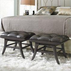 Crestaire - Lena Ottoman in Flint - 436-85-72 - Stanley Furniture