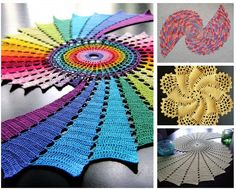 10 Stunning Examples of Crochet Fractals from crochetconcupiscence.com. What beautiful crocheted doilies! I love fractals--and the rainbow ones are the BEST.