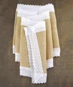 Look what I found on #zulily! Jute & Lace Table Runner #zulilyfinds
