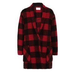 Rank & Style - Etoile Isabel Marant Étoile Isabel Marant Gabrie Plaid Wool-Blend Coat #rankandstyle