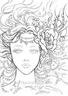Pearls by Mitzi Sato-Wiuff * Coloring pages colouring adult detailed advanced printable Kleuren voor volwassenen coloriage pour adulte anti-stress kleurplaat voor volwassenen Line Art Black and White