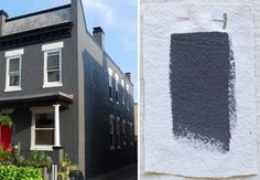 Best Exterior Gray House Paint Colors, Sherwin Williams Peppercorn, Gardenista - for the house trim