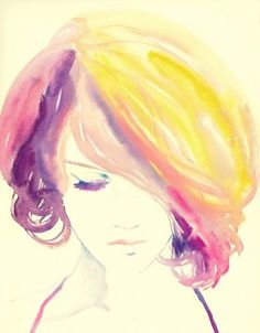 Whimsical watercolor portraits: art showcase, color palettes, brushes and tutorials - colourlovers