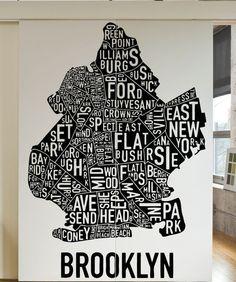 Vinyl Wall Decal Sticker Downtown And Brooklyn Subway Sign - Custom vinyl decals brooklyn