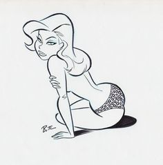 cartoon art cooketimm: Poison Ivy by Bruce Timm Pin Up Drawings, Cartoon Drawings, Cartoon Art, Female Drawing, Female Art, Drawn Art, Bruce Timm, Poses References, Retro Art