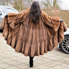 SWINGER FUR COAT WITH BEAUTIFUL SLEEVES. REAL RUSSIAN SABLE. RUSSIAN SABLE ! ENDS OF COLLECTIONS. THIS FANTASTIC COAT IS ONE. SWINGER STYLE. OF THE MOST BEAUTIFUL COATS. All skins used in our fur coats are Farm Raised. | eBay!