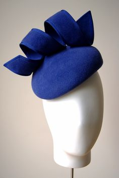 Royal blue spiral hat from A/W 2014 Esther Louise Millinery