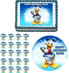 DONALD DUCK Edible Cake Topper Cupcake Image Decoration Birthday