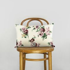 Floral pillow case  Oversized flowers in rose by RocailStudio
