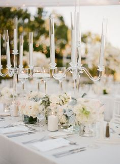 Featured Photographer:Sylvie Gil Photography; wedding reception centerpiece idea