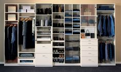 Reach-in Closet | Storage Solutions For Wall Closets Closet Factory