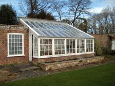 greenhouse -- to have a greenhouse ATTACHED to the house. I think I'd die from happiness.