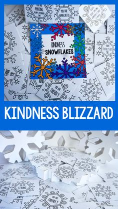 Lets create a Blizzard of Kindness this winter! Kindness Snowflake Cards Kindness Activity is a winter activity designed Elementary Counseling, School Counselor, Elementary Schools, Career Counseling, Winter Activities, Art Activities, Classroom Activities, Classroom Crafts, Kindness Projects