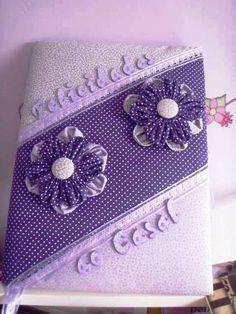 caderno decorado para assinaturas e mensagens , para casamento ou 15 anos . cores a escolha do cliente. R$45,00