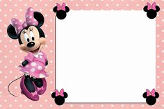 Free Online Minnie Mouse Invitation Template