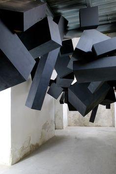 installation in black
