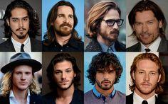 """Cabelo comprido e barba, dobradinha da moda. Os cabelos médios e longos nunca saíram totalmente da moda, mas estão virando tendência, usados com barba. É o """"combo"""" mais moderno de visual masculino. Leia a matéria no site."""