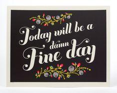 Damn Fine Day Print #Etsy #JonathanAdler #GetChicSweepstakes