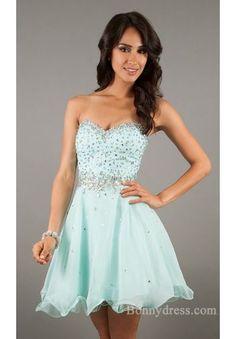 Sexy Sweetheart Short Empire Baby doll Chiffon Prom Dress bonny34331