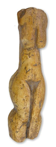 Venus from Yeliseevichi. Ancient goddess figurine from Yeliseevichi on the Sudost river, Briansk Province, Russia.