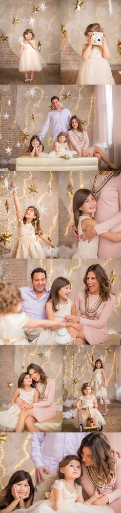 Starry holiday family session by Laura Sanz Photography.