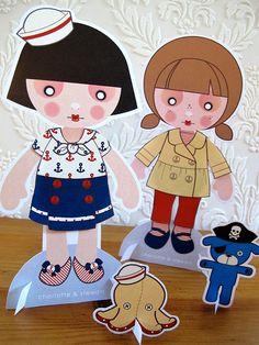 Printable PDF  Sailor Paper Dolls by charlotteandstewart on Etsy, $4.00