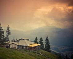 Looking over Sinaia from 1400m ! http://tripsandtipsinromania.com/visit-the-carpathians/
