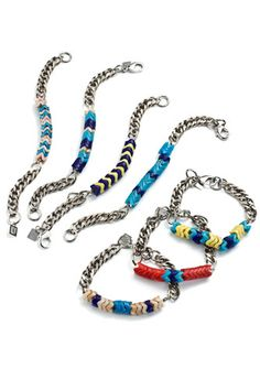Lust List: Shake It Up With Beaded Jewelry  #refinery29  http://www.refinery29.com/lust-list-shake-it-up-with-beaded-jewelry#slide-1  Dannijo Dana Trade Bead Bracelets, $80, available at Dannijo.