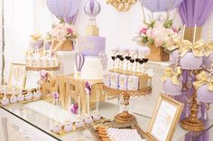 Sweetscape from a Hot Air Balloon Baby Shower on Kara's Party Ideas | KarasPartyIdeas.com (3)