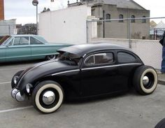 Stretched and lowered 6x model VW Beetle.