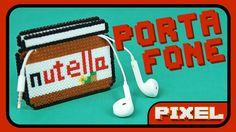 Porta Fone Nutella + Receita Bônus   Pixel Art