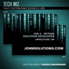 Security business card business cards and business tech wiz business card colourmoves