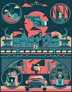 Skyfall - movie poster - Shotopop