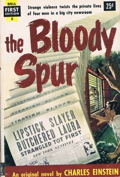 THE BLOODY SPUR, rare Vintage Dell Paperback, 1953