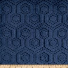Premier Prints Embossed Geo Cuddle Navy from @fabricdotcom  Designed for Premier Prints, this embossed minky fabric has an extremely soft 5 mm pile that's perfect for  blankets, throws, baby items, and pillows.