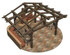 12x14 covered outdoor kitchen design   Sundance   Outdoor Pergola   Timber Pergola Design