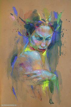 Emotional by MartaNael > awesome pastel art http://www.deviantart.com/art/Emotional-510375591?utm_content=buffer4d319&utm_medium=social&utm_source=pinterest.com&utm_campaign=buffer #pastels #portraitart