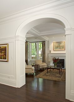 Love it!  Arched doorway and high chair rail. Gorgeous!