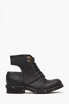 Rosie Cutout Combat Boot