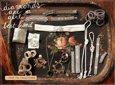 interesting mix of fabrics and jewelry  great for ideas