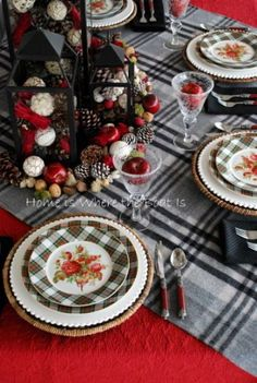 Plaid and Pine Cones | Christmas