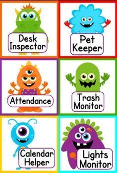Monster Themed Job Display
