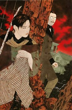 "dressrehearsalrag:  Takato Yamamoto, ""Counterfeit bill of the 11th year of the Meiji period"" Altar of Narcissus artbook"