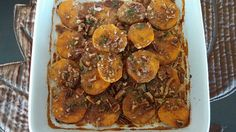 Oven Roasted Sweet Potatoes with Pecan Crumble