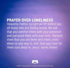 prayer over loneliness
