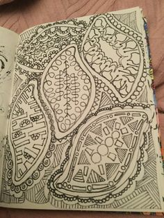 Zen doodle book, drawn by Shirley