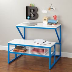 Shop New School Kids Play Table (Blue).  Our modern New School kids play table in blue features a sleek, modern designs with clean lines and gorgeous glossy finishes.  Shop kids play tables.