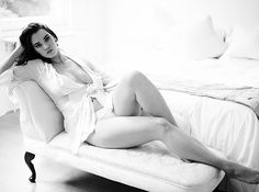 Sometimes more is less, as far as clothing is concerned. | 33 Impossibly Sexy Boudoir Photo Poses
