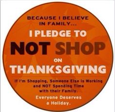 The consumers hold the power here. Stop this madness! It's Black Friday not Black Thanksgiving! #BlackFriday #Thanksgiving